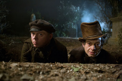 Simon Pegg and Andy Serkis in Burke and Hare