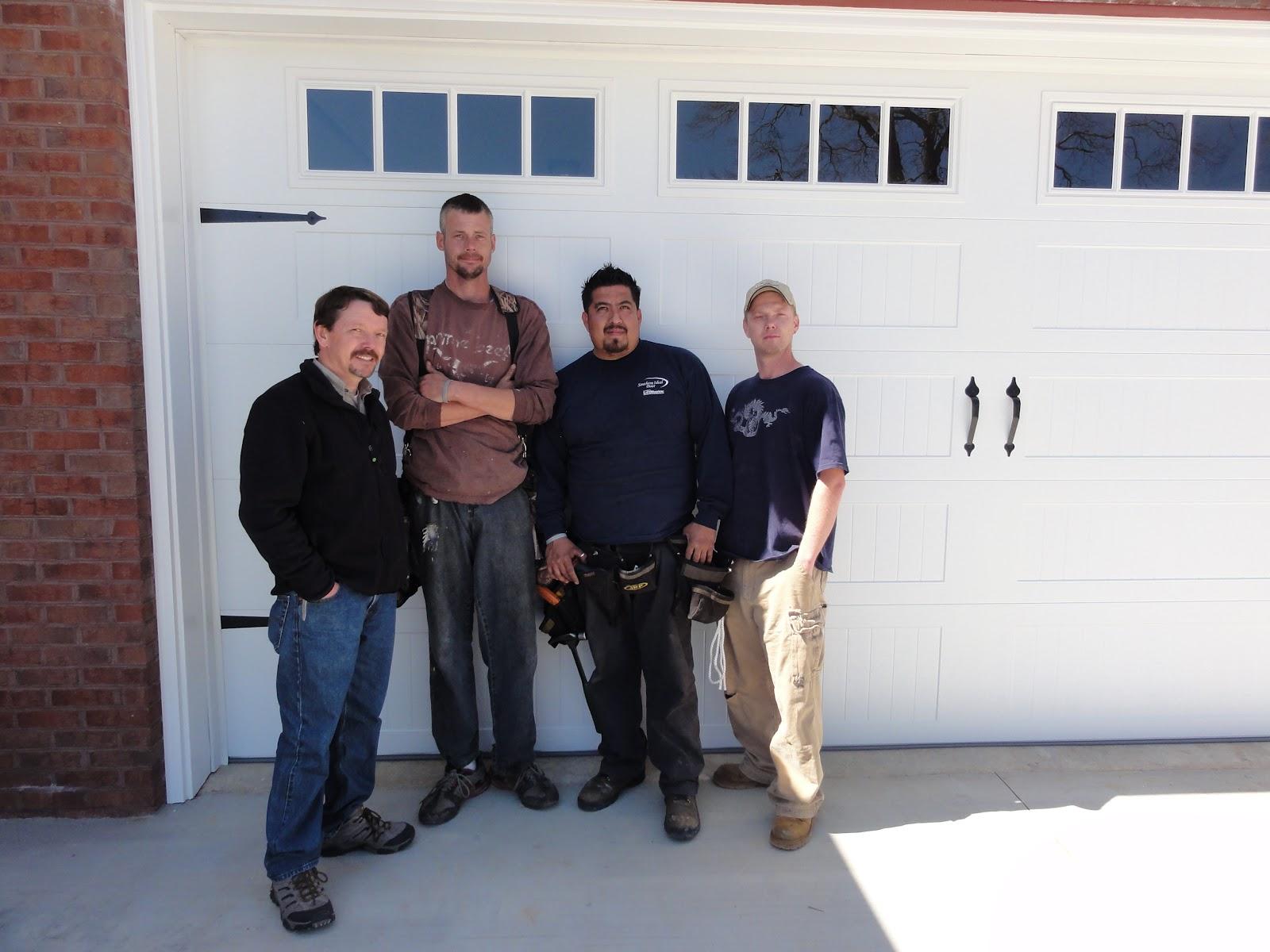 Mike Huff, Brian Ferguson, Jesus Vera, U0026 Leslie Wilder Of Northeast GA  Gutter And Garage Door Installing Beautiful New CHI Overhead Door With Lift  Master ...