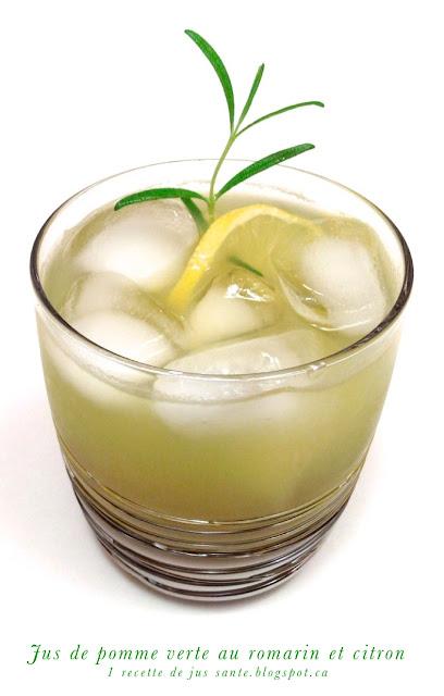 1 recette de jus sant jus de pomme verte au romarin et citron. Black Bedroom Furniture Sets. Home Design Ideas