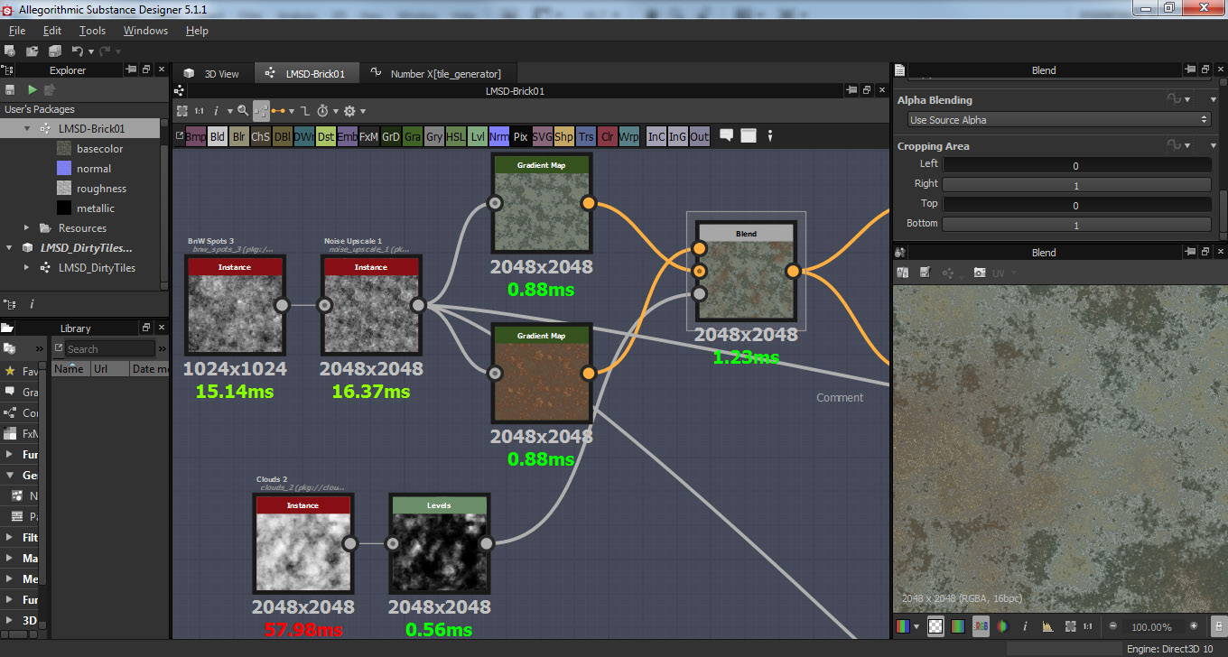 here is another screenshot to demonstrate some of the nodes generators filters etc which you can use