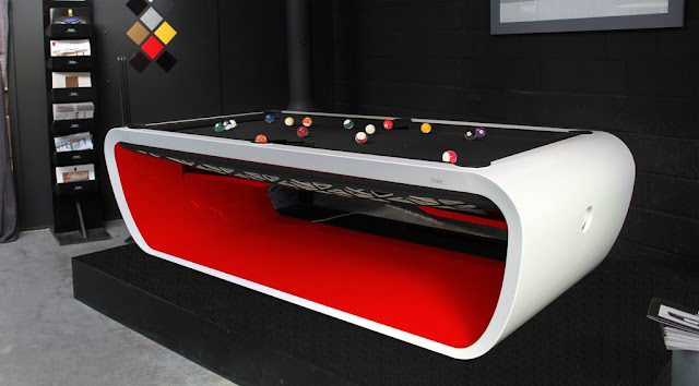 Black light billiard tables by toulet tons of colors and for Billiard light plans