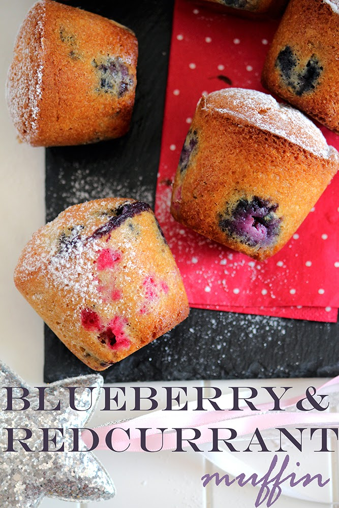 oh my muffin!!! redcurrant & blueberry