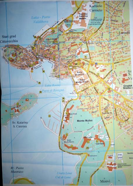 Подробная карта города Ровинь, Хорватия, 2011 | Detailed map of Rovinj, Croatia, 2011