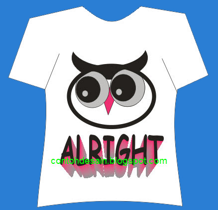 Desain Kaos Burung Hantu Owl Cool Alright