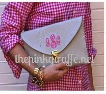 embroidered envelope clutch