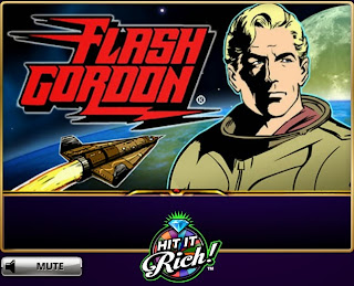 Title screenshot of Hit It Rich Flash Gordon game