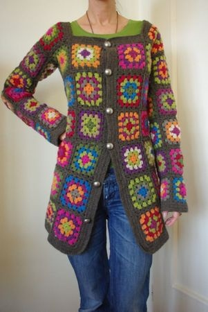 GRANNY SQUARE CROCHET SWEATER PATTERN « CROCHET FREE PATTERNS