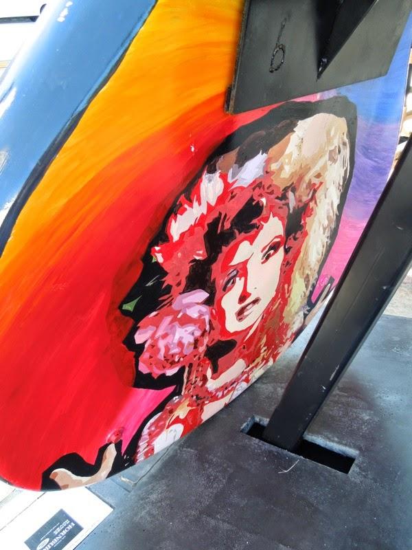 Cyndi Lauper GuitarTown design back