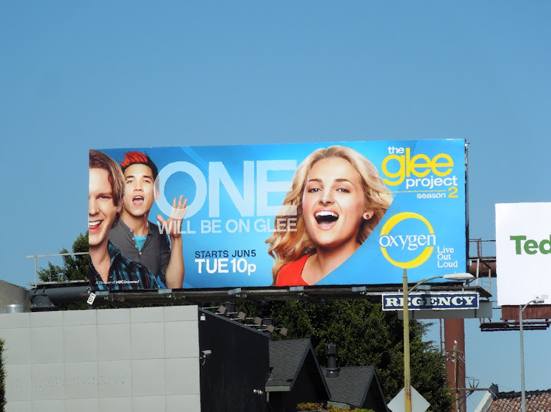 Glee Project season 2 Oxygen billboard