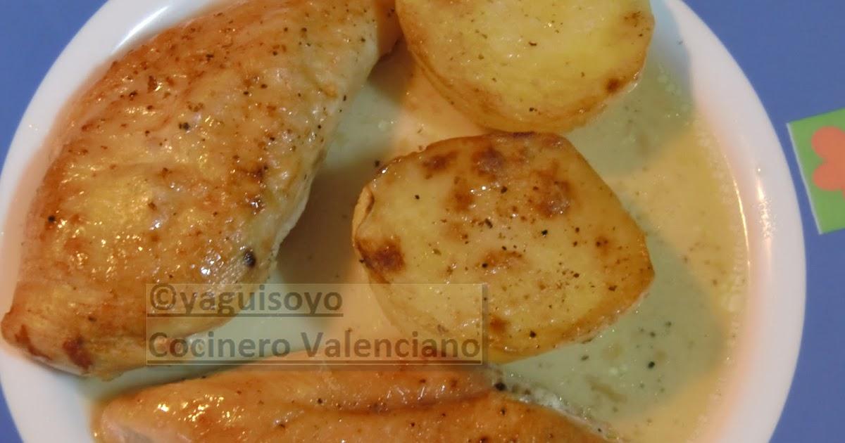 Ya guiso yo pechugas de pollo asadas con patatas fondant for Pechugas de pollo al horno con patatas