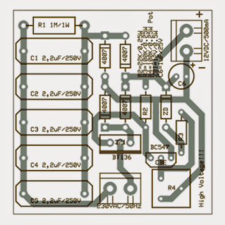 High current transformerless power supply PCB design lauout