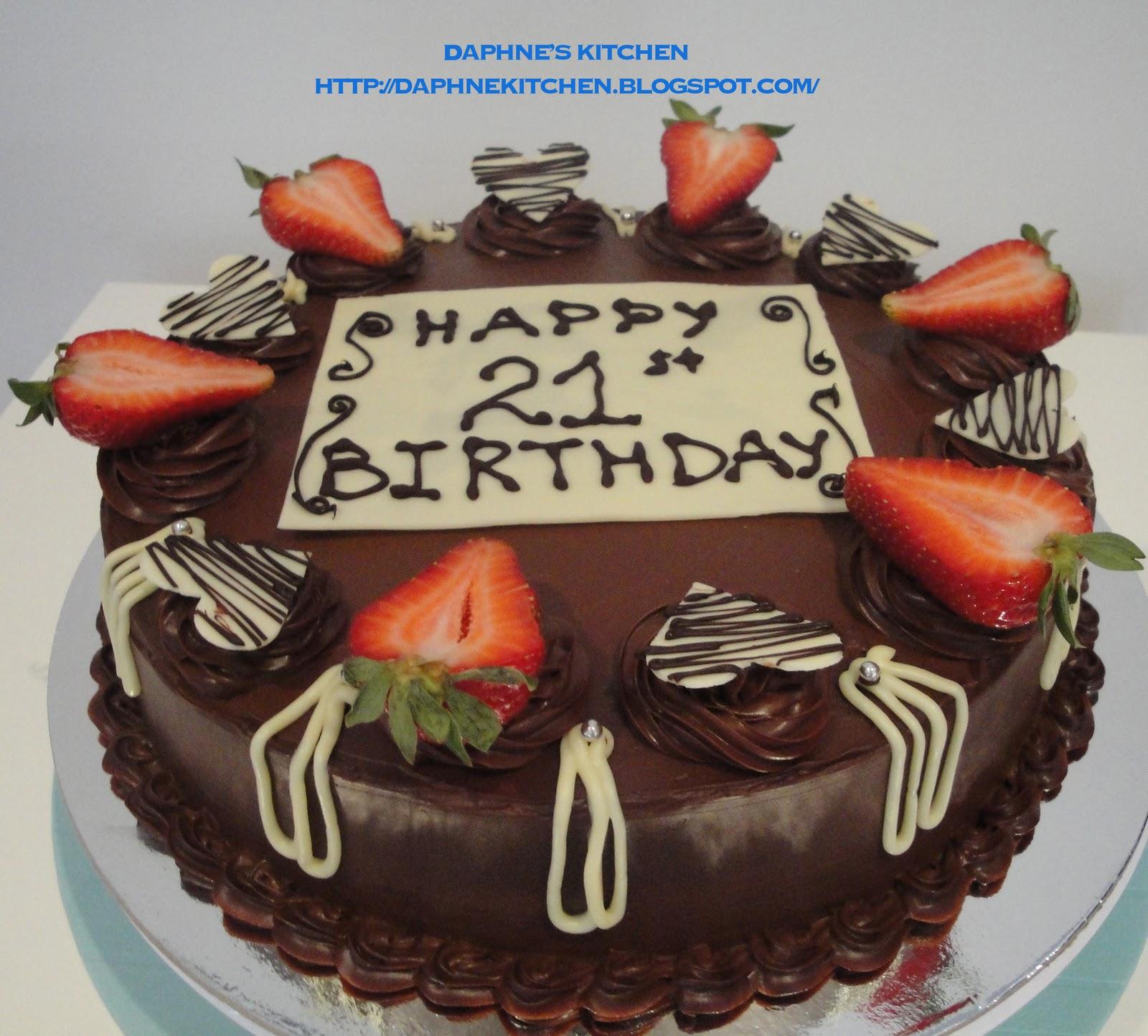 Daphnes Kitchen Dark Chocolate Cake For Her 21st