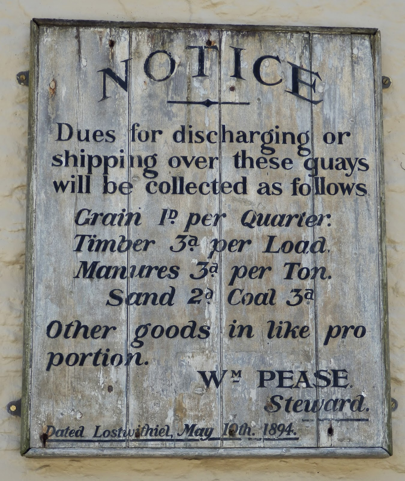 Old sign at Pont Cornwall
