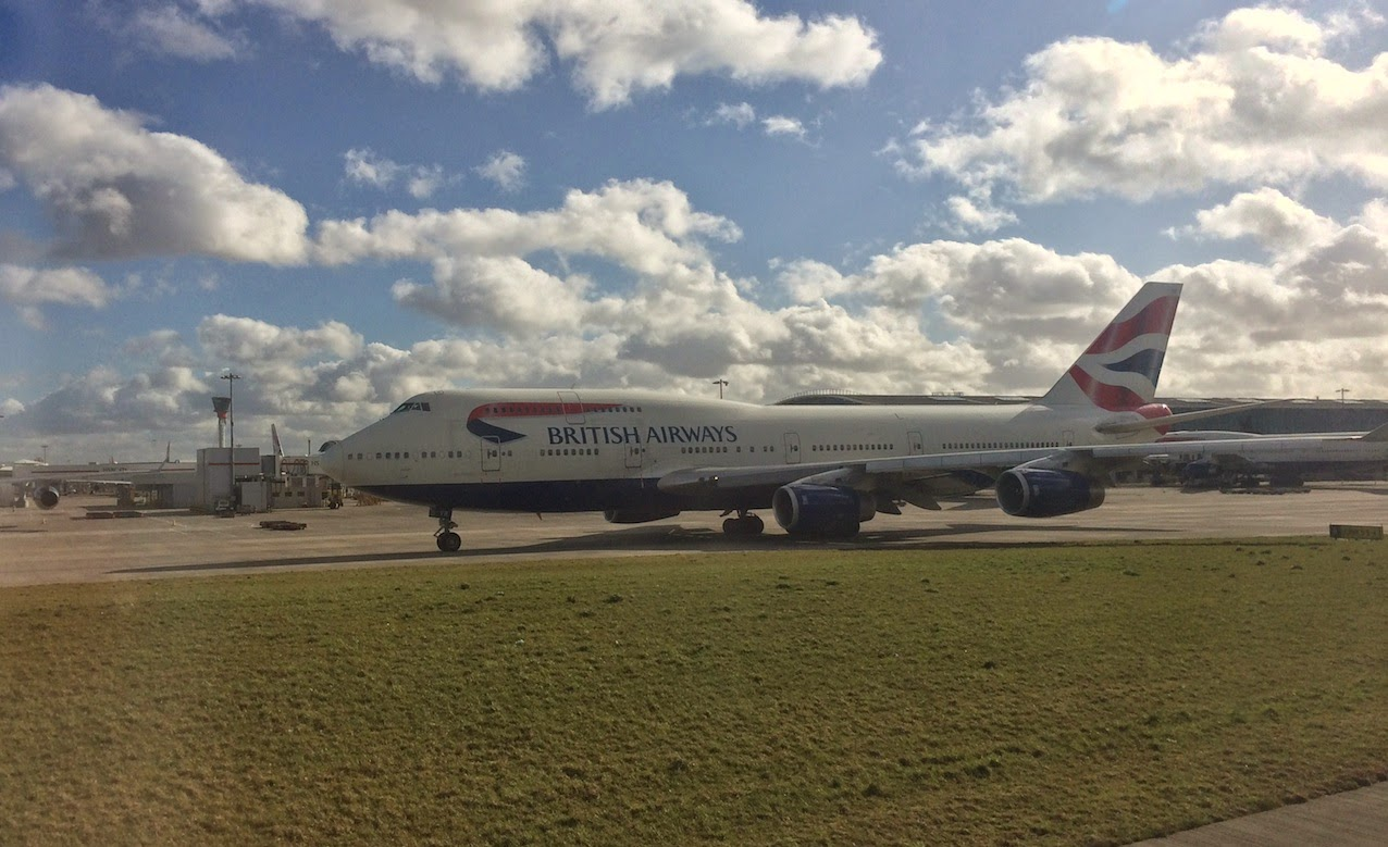 British Airways Plane before taking off