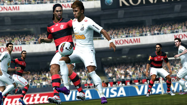 Ronaldinho and Neymar in PES 2013