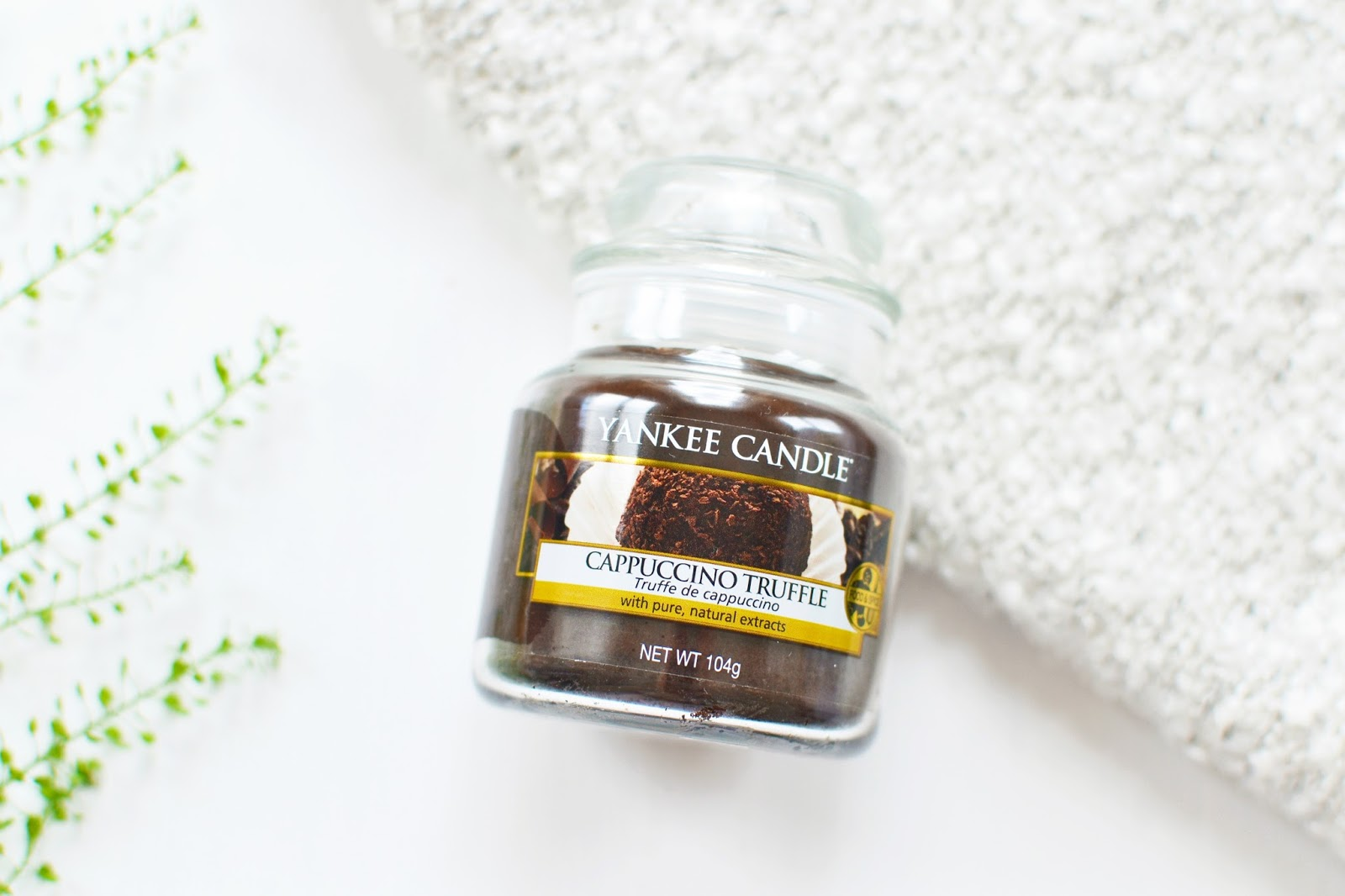 Cappuccino Truffle Scented Candle from Yankee Candle Cafe Culture Collection