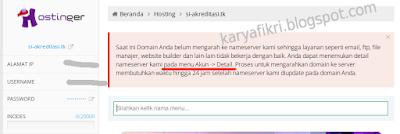 8 Halaman pengaturan hosting gratis baru yang telah dibuat (karyafikri.blogspot.com)