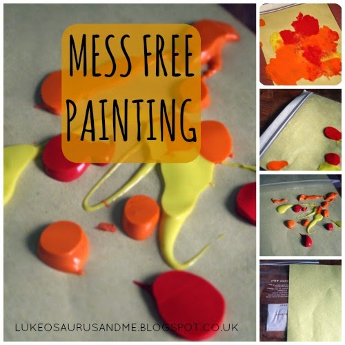 Easter Activities For Toddlers. Mess Free Painting. www.lukeosaurusandme.blogspot.co.uk