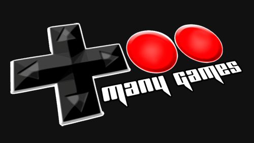 gaming convention Too Many Games banner logo