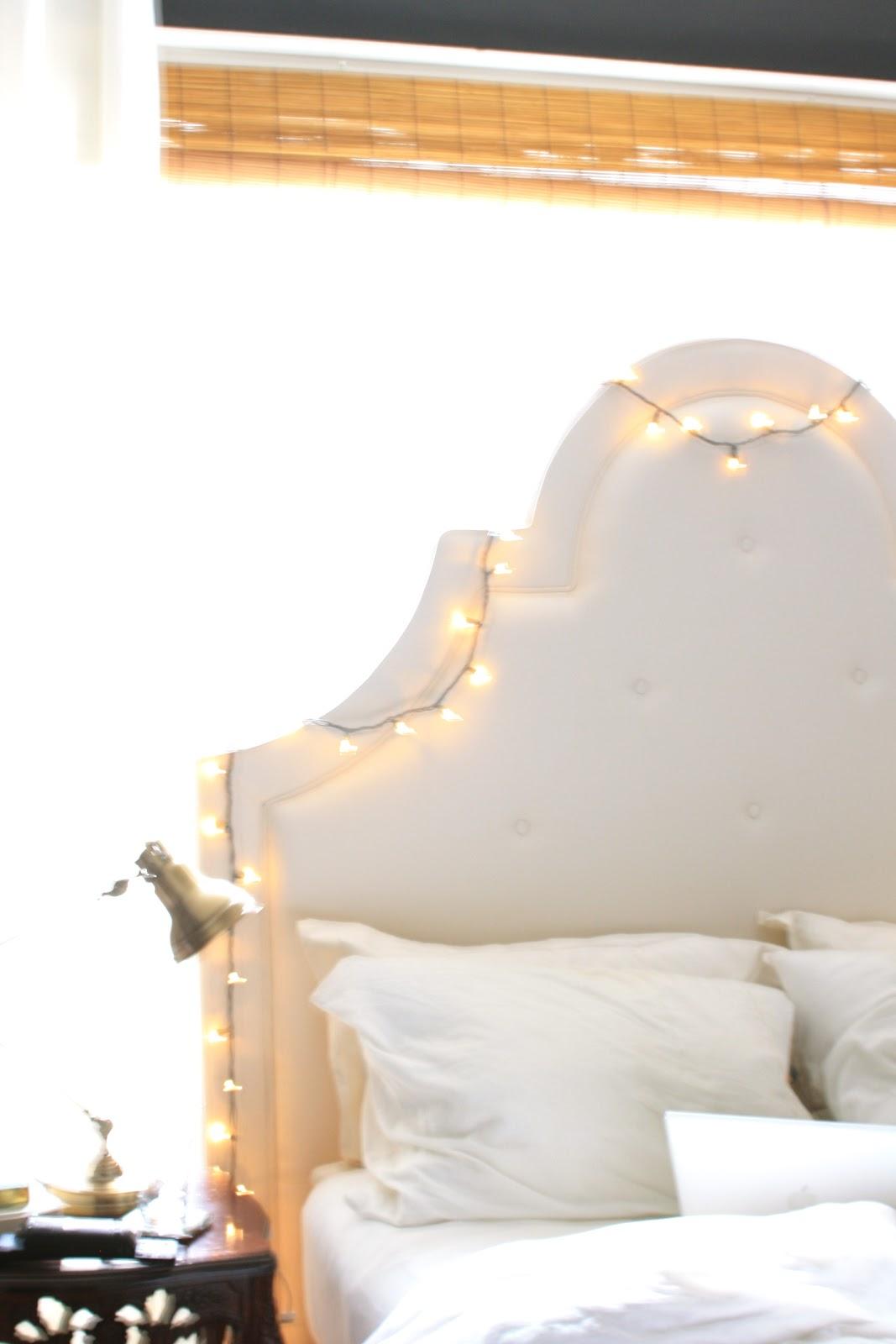 bedroom decor Pottery Barn York headboard