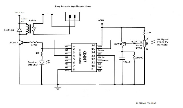 simplest cheapest way to control any home appliances With infrared switch using any infrared remot