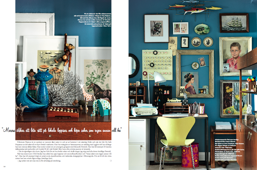 Marcus Hay Fluff N Stuff Swedish Elle Interior Magazine Apartment