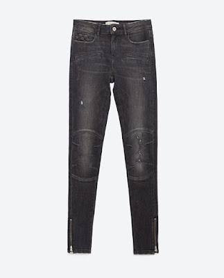 Zara Biker Skinny Jeans