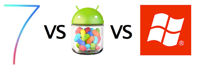 iOS 7 vs Windows Phone 8 vs Android Jelly Bean 4.2