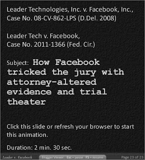 Leader v. Facebook | How Facebook tricked the jury with attorney-altered evidence and trial theater