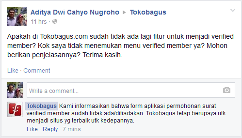 Tokobagus verified member