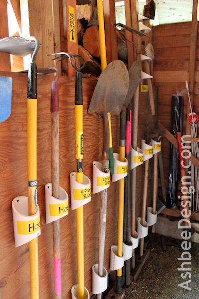 Garden tool organization ideas