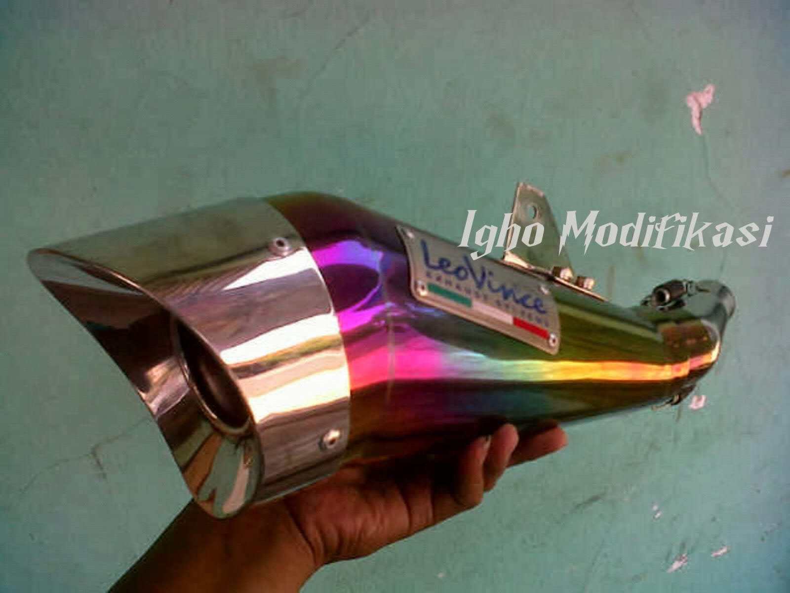250, knalpot custon leo vince cb150r, knalpot custom igho modifikasi title=