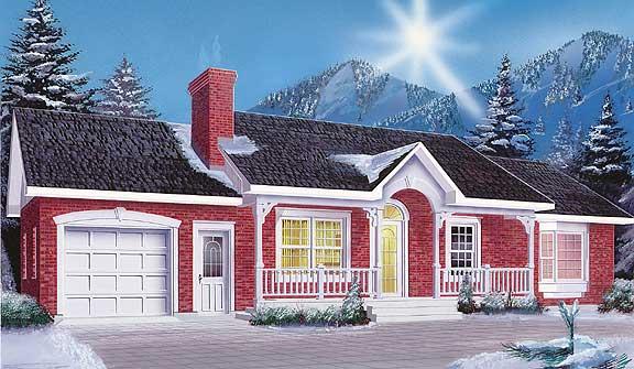 Dise os de casas e interiores proyecto de casa de 1 planta for Disenos de chalets 1 planta