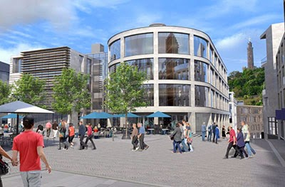 The disappointing Caltongate proposal  - with some very badly dressed people