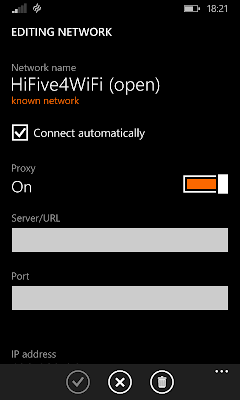 change ip address windows phone