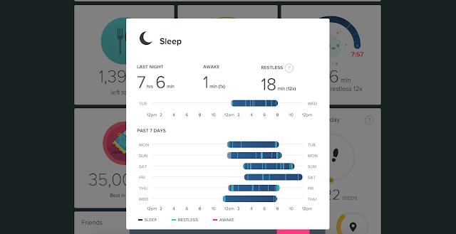 fitbit sleep length quality screenshot