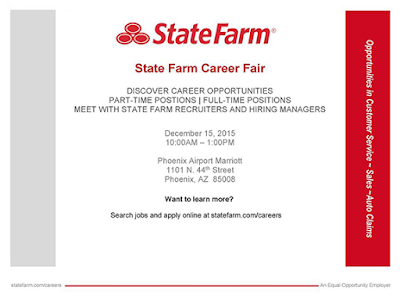 State Farm Career Fair poster.  Text available in blog post