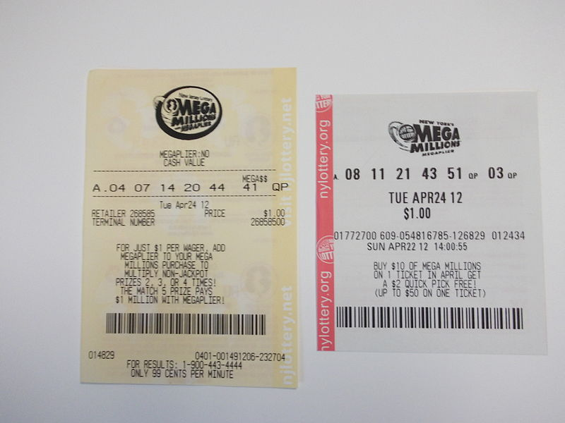 Mega Millions lottery tickets from New Jersey and New York  2012Winning Lottery Ticket Mega Millions