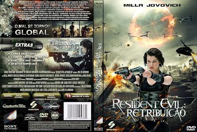 Filme Resident Evil 5 Retribuição DVD Capa