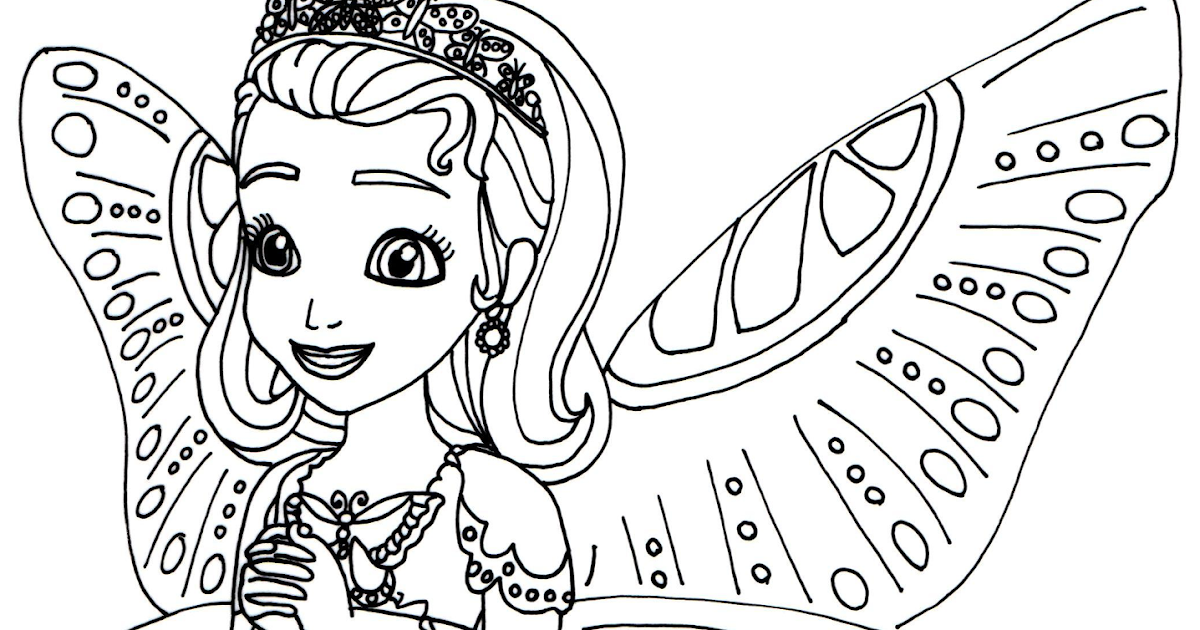 Sofia The First Coloring Pages Princess Butterfly Sofia