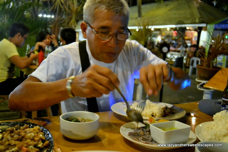 dining in Kinabuchs Palawan