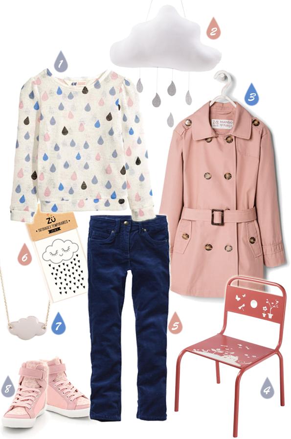 Le look fille - Jour de pluie