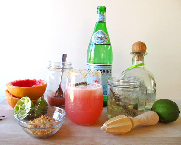 Sparkling Rosemary Grapefruit Margaritas