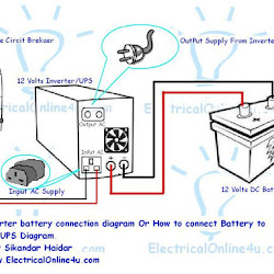 ups & inverter wiring diagram for one room office : inverter wiring diagram - findchart.co