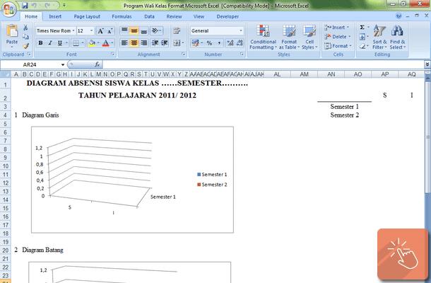 Program Wali Kelas Format Microsoft Excel