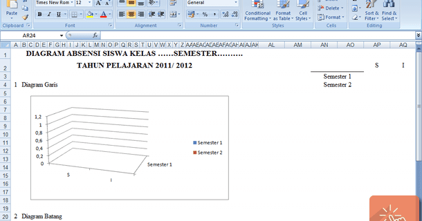 Program Wali Kelas Format Microsoft Excel Download File