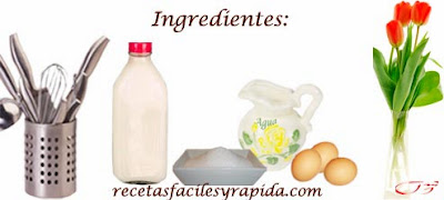 ingredientes flan de huevo