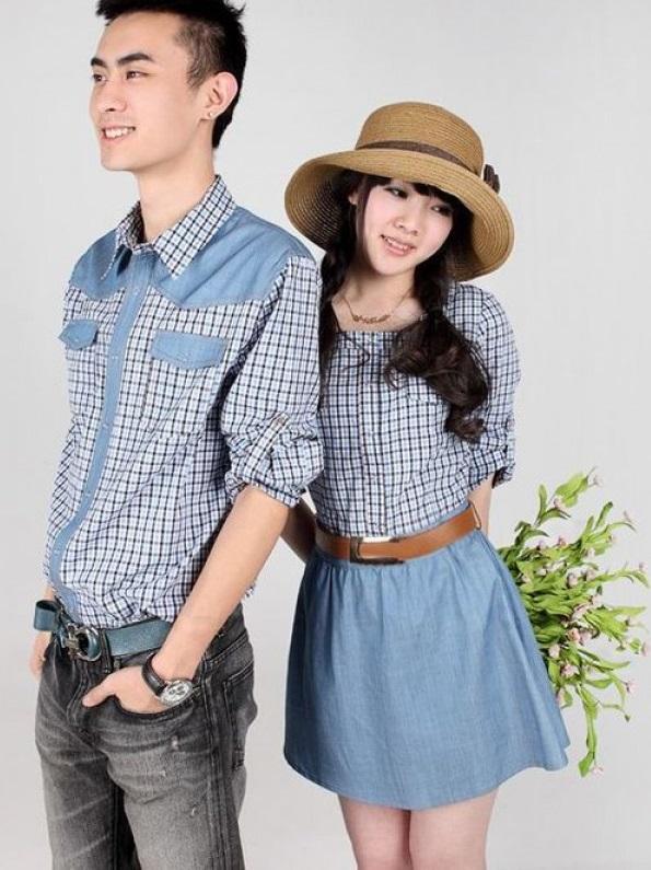Jual Couple Unique Greya Caster Murah di Jakarta Bahan Katun Terbaru Warna Biru