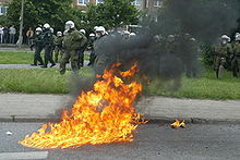 Molotov exploding