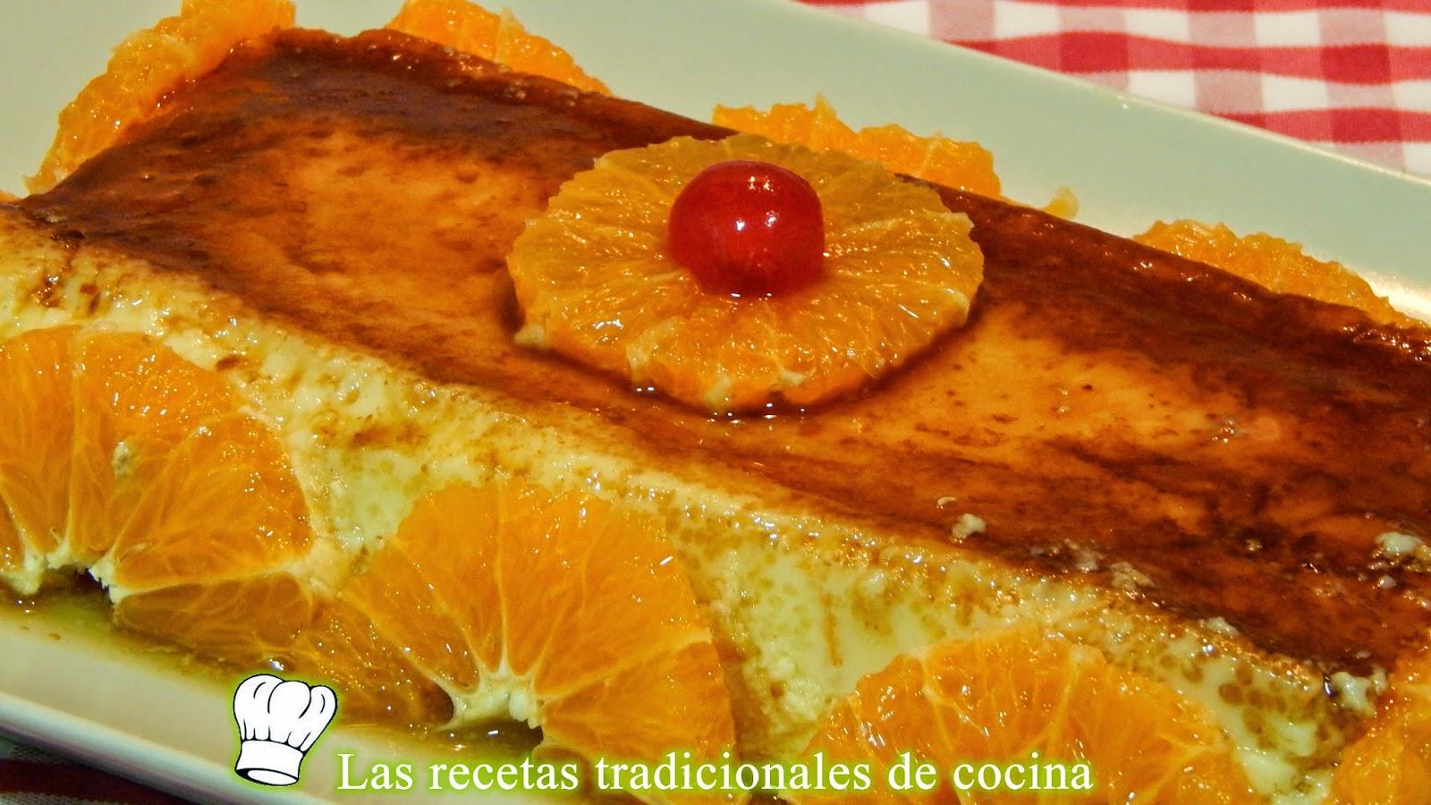 Receta fácil de flan de clementina